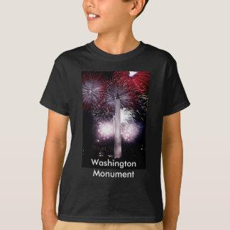 Fuegos artificiales del monumento de Washington Playera