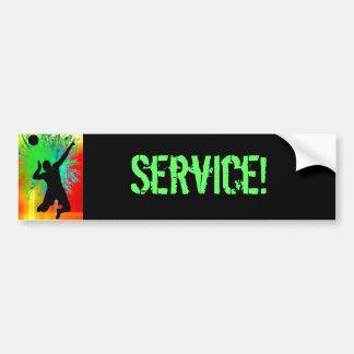 Fuegos artificiales del servicio de la bola del vo etiqueta de parachoque