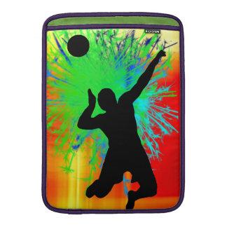Fuegos artificiales del servicio del voleibol funda  MacBook