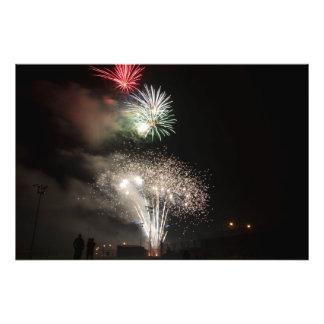 Fuegos artificiales en Dover, Ohio que celebra el Fotografías