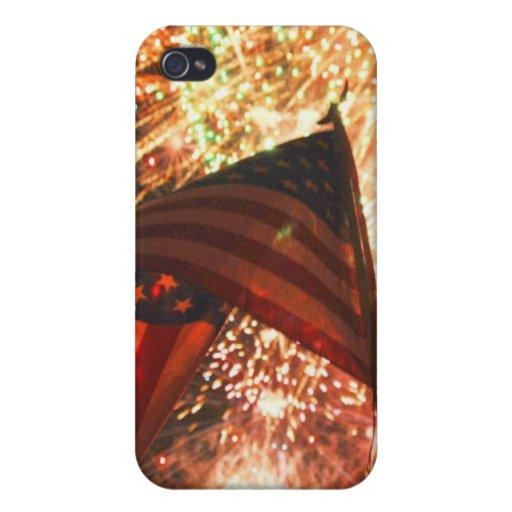 Fuegos artificiales en el cuarto iPhone 4/4S carcasas