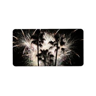 fuegos artificiales en la palma trees.jpg etiqueta de dirección