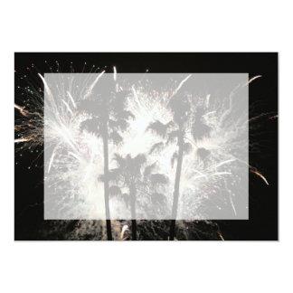 """fuegos artificiales en la palma trees.jpg invitación 5"""" x 7"""""""