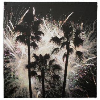 fuegos artificiales en la palma trees.jpg servilletas imprimidas