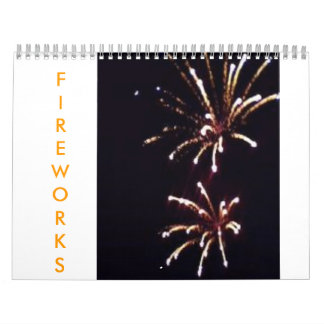 ¡Fuegos artificiales en un año Calendario