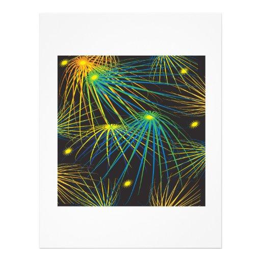 Fuegos artificiales tarjetas informativas