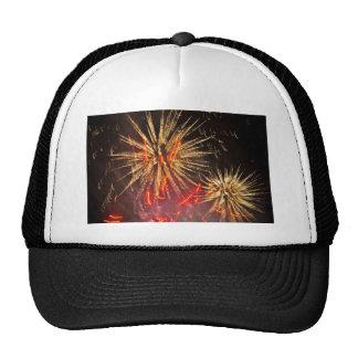 Fuegos artificiales gorras de camionero