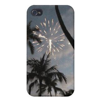 Fuegos artificiales hawaianos iPhone 4 funda