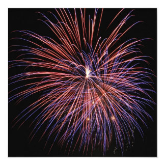 Fuegos artificiales invitación del 4 de julio