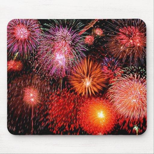 Fuegos artificiales mouse pads