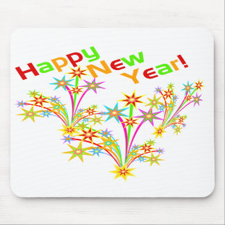 Fuegos artificiales Mousepad de la Feliz Año Nuevo Tapete De Ratones