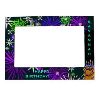 Fuegos artificiales para su cumpleaños (personaliz marcos magnéticos de fotos
