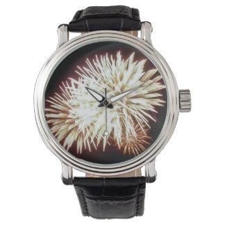 Fuegos artificiales reloj