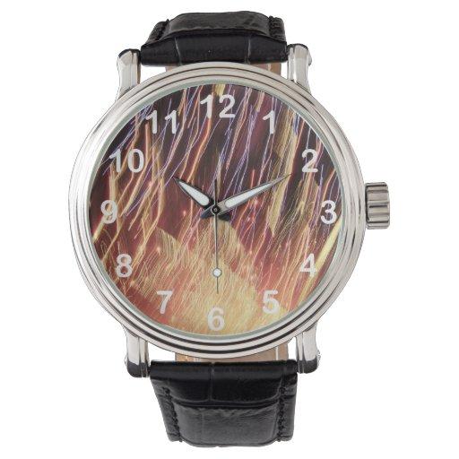 Fuegos artificiales relojes de pulsera