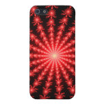 Fuegos artificiales rojos - diseño del fractal iPhone 5 carcasas