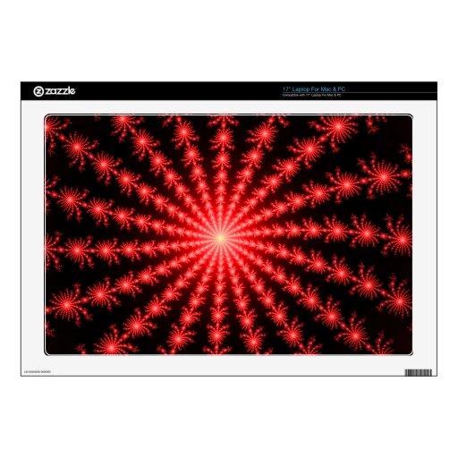 Fuegos artificiales rojos - diseño del fractal calcomanía para 43,2cm portátil