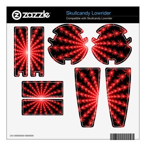 Fuegos artificiales rojos - diseño del fractal skins para skullcandy