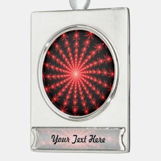 Fuegos artificiales rojos - diseño del fractal