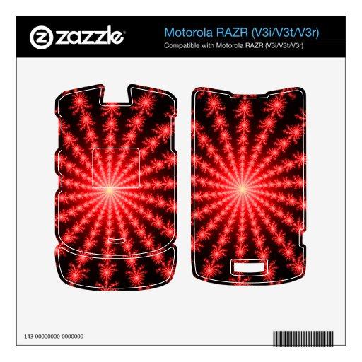 Fuegos artificiales rojos - diseño del fractal skins para motorola RAZR