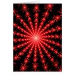 Fuegos artificiales rojos - diseño del fractal tarjetas