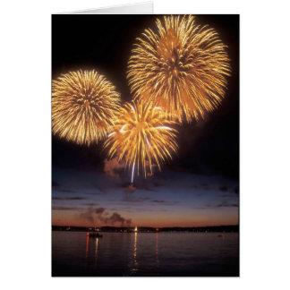 Fuegos artificiales sobre el lago Champlain, Tarjeta De Felicitación