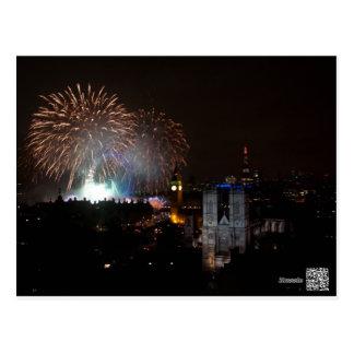 Fuegos artificiales sobre Londres, Noche Vieja Tarjetas Postales