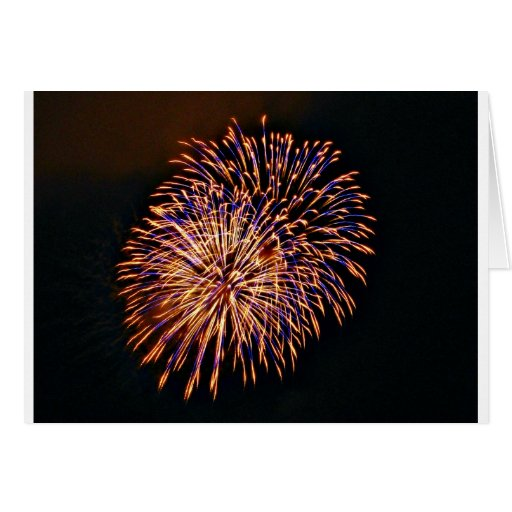 Fuegos artificiales tarjeta de felicitación