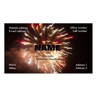 Fuegos artificiales tarjeta de visita