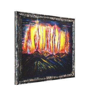 Fuegos de la furia lona estirada galerias