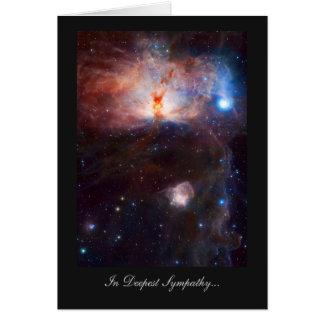 Fuegos de la nebulosa de la llama - en la tarjeta de felicitación
