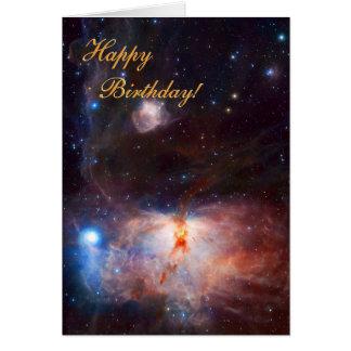 Fuegos de la nebulosa de la llama - feliz tarjeta de felicitación