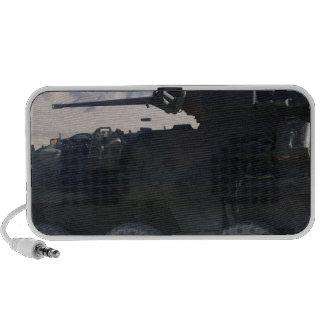 Fuegos de un vehículo blindado de la luz iPhone altavoces