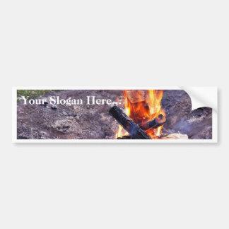 Fuegos del campo etiqueta de parachoque