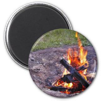 Fuegos del campo imán redondo 5 cm
