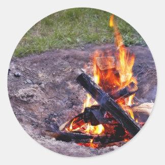 Fuegos del campo pegatinas redondas