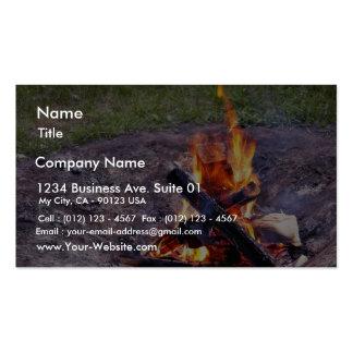 Fuegos del campo plantillas de tarjetas de visita
