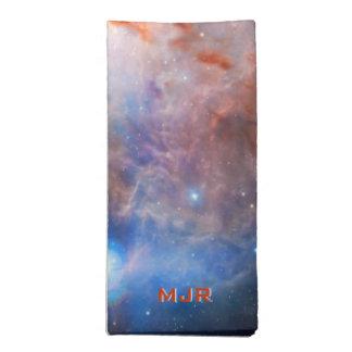 Fuegos del monograma de la nebulosa de la llama -  servilleta de papel