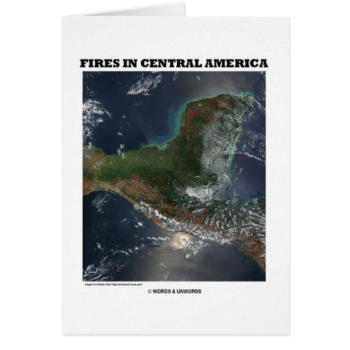 Fuegos en America Central (satélite de tierra de l Tarjetas