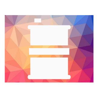 Fuel Drums Pictogram Postcard