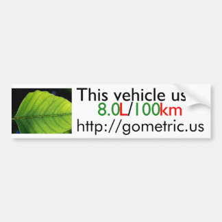 Fuel Efficiency Bumpersticker Bumper Sticker