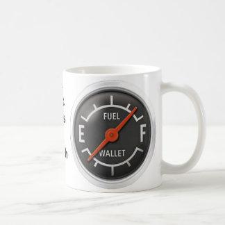 Fuel gage cup, Ya got Gas or Cash? Coffee Mug