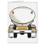 fuel gasoline tanker truck greeting card