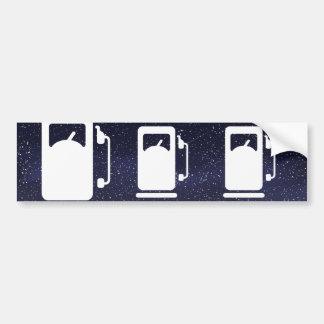Fuel Gauges Pictograph Car Bumper Sticker