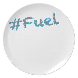 #Fuel - Grey and Blue Writing Plate