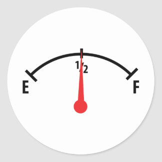 fuel indicator icon classic round sticker
