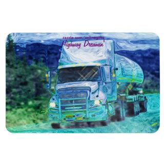 Fuel Tanker Truck Yukon-Alaska Highway Art Magnet