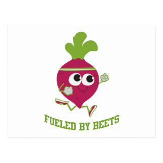 Fueled By Beets Postcard