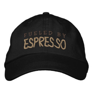 FUELED BY ESPRESSO EMBROIDERED BASEBALL CAP