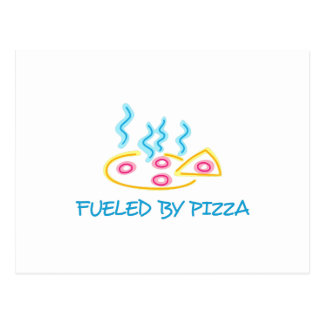 Fueled By Pizza Postcard