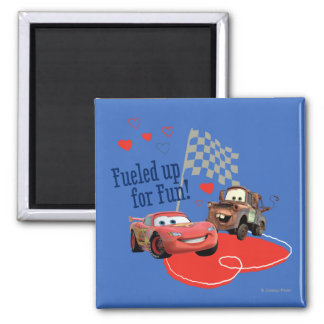 Fueled up for Fun! 2 Inch Square Magnet